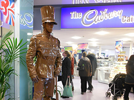 Chocolate living statue
