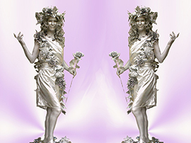 Silver Living Statues