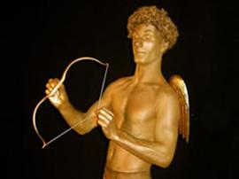 cupid human statue