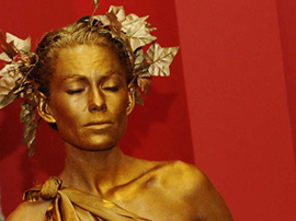 Gold Human Statue