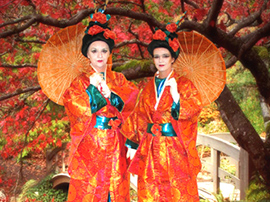 Japanese Theme Stilt Walkers for hire