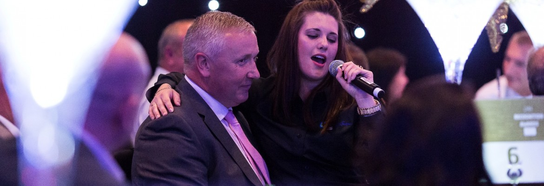 corporate singing waiters
