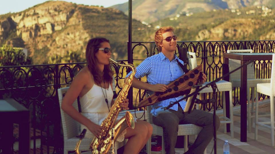 Saxophonist duo