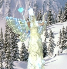 Snow-Fairy-Stilt-Walker