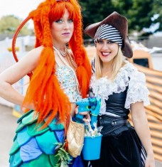 mermaid n pirate stilts