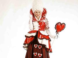 Queen of Hearts Stilt Walker