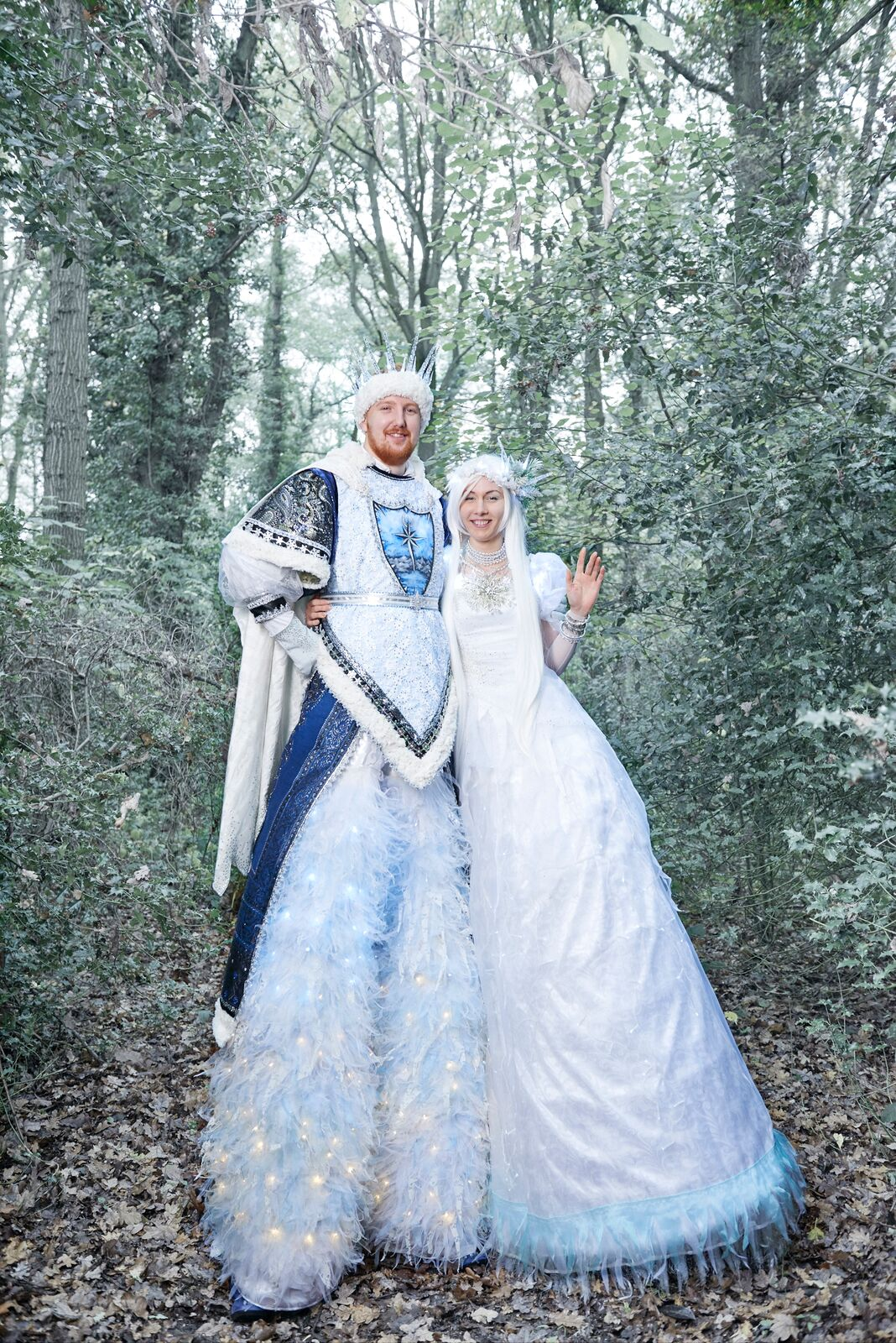 Ice Snow King and Queen Stilt
