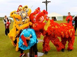 Chinese Red & Gold Lion