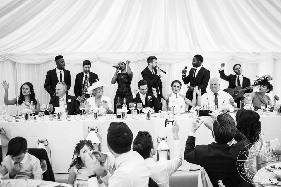 high end luxury wedding band hire